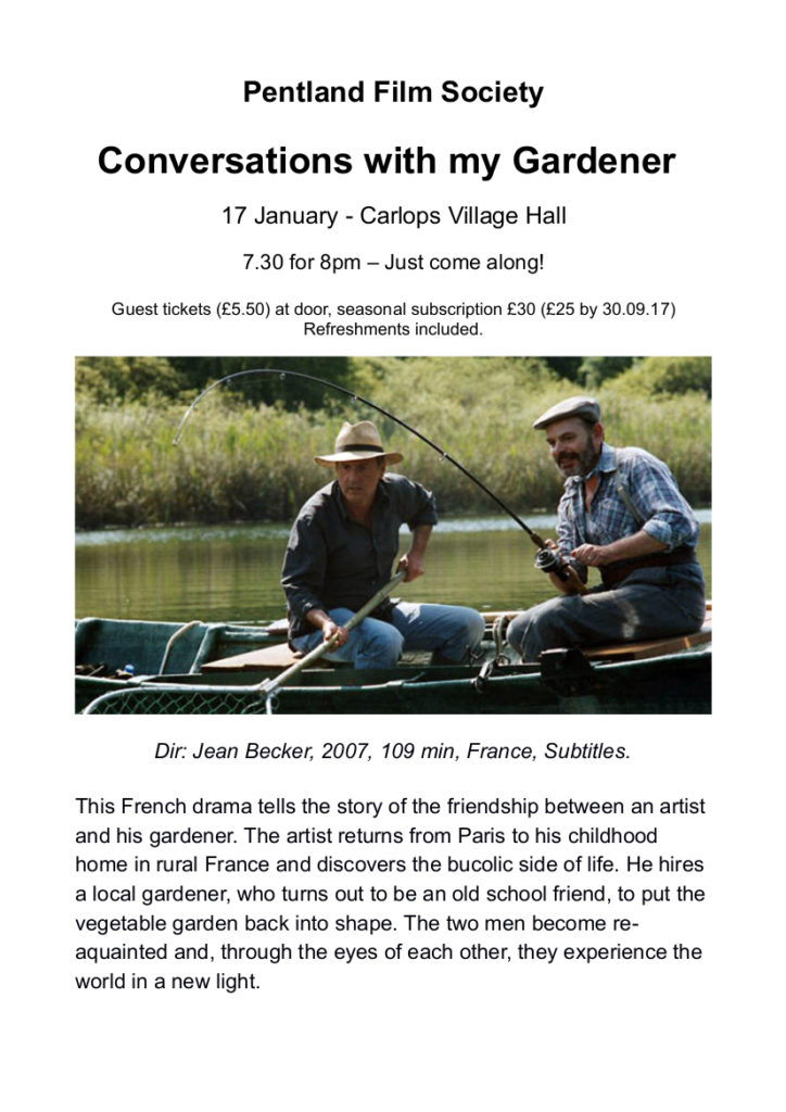 """PFS: """"Conversations with my Gardener"""" 17th February 2020"""